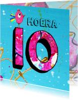 Verjaardagskaarten - verjaardagskaart meisje 10