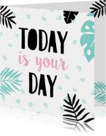 Verjaardagskaarten - Verjaardagskaart plant-pc