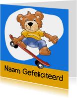Verjaardagskaarten - Verjaardagskaart skateboard