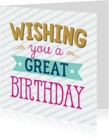 Verjaardagskaarten - Verjaardagskaart strepen