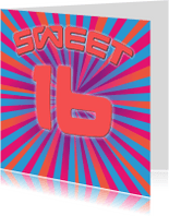 Verjaardagskaarten - verjaardagskaart - Sweet 16 girl