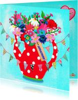 Verjaardagskaarten - Verjaardagskaart Theepot PA