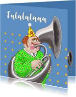 Verjaardagskaarten - Verjaardagskaart Tuba