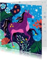 Verjaardagskaart unicorn droomwereld