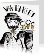 Verjaardagskaarten - verjaardagskaart Zeeuws man bier