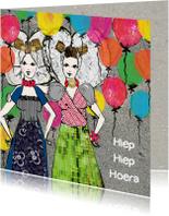 Verjaardagskaarten - Verjaardagskaart Zeeuwse meisjes