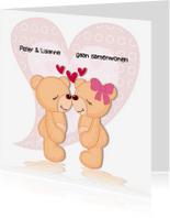 Verhuiskaarten - Verliefde beren