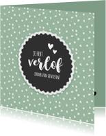 Felicitatiekaarten - Verlof - lekker van genieten (retro)