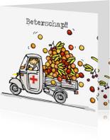 Beterschapskaarten - Vespa Ape met fruit