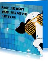 Uitnodigingen - vette party kaart