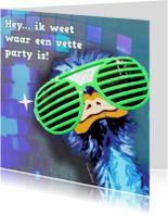Uitnodigingen - Vette party2
