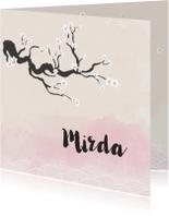 Geboortekaartjes - Vintage sakura