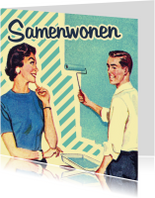 Felicitatiekaarten - Vintage Samenwonen