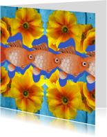 Dierenkaarten - Vissen en bloemen