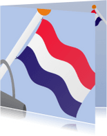 Geslaagd kaarten - Vlag met tas