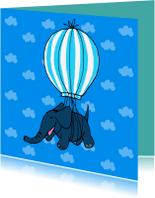 Dierenkaarten - vliegende olifant