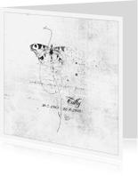 Rouwkaarten - Vlinder In Wit Softly - JD
