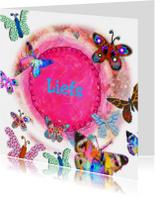 Zomaar kaarten - vlinders abstract