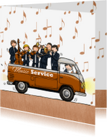 Verjaardagskaarten - Volkswagen Pickup Orkest koper