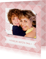 Opa & Omadag kaarten - Voor de liefste oma - bedankt