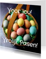 Paaskaarten - Voor jou! Vrolijk Pasen! - BK