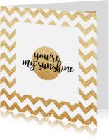 Liefde kaarten - vriendenkaart you're my sunshine