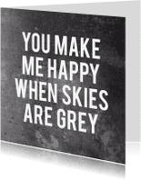 Vriendschap kaarten - Vriendschap quote skies are