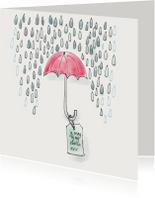 Vriendschap kaarten - Vriendschapkaart Schuilen