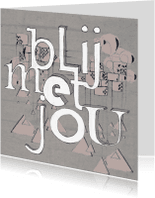 Vriendschap kaarten - Vriendschapkaarten Liefde Blij met jou