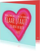 Vriendschap kaarten - Vriendschapskaart de beste PA