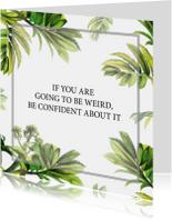 Spreukenkaarten - Vriendschapskaart Met Bladeren