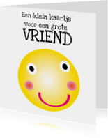 Vriendschapskaart smiley