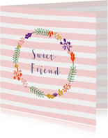 Vriendschap kaarten - Vriendschapskaart sweet friend