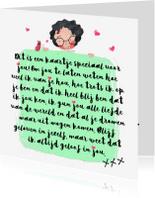 Vriendschap kaarten - Vriendschapskaartje meisje met een mooie tekst - SD