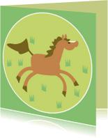 Kinderkaarten - Vrolijk paardje