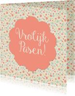 Paaskaarten - Vrolijk Pasen bloemen - DH