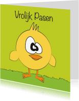Paaskaarten - Vrolijk pasen kuikentje