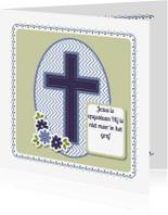 Paaskaarten - Vrolijk Pasen met kruis