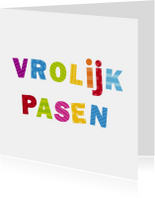Paaskaarten - Vrolijk pasen Vrolijke letters