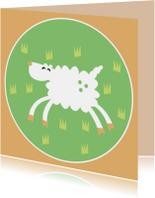 Dierenkaarten - Vrolijk schaapje
