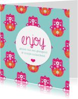 Religie kaarten - Vrolijk suikerfeest hamsa design
