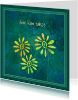 Wenskaarten divers - Vrolijke bloemen 4