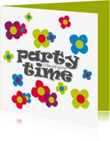Uitnodigingen - Vrolijke bloemen feestje - SZ