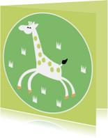 Dierenkaarten - Vrolijke giraffe