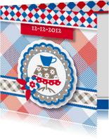 Uitnodigingen - vrolijke uitnodiging 19 high tea