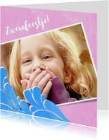 Kinderfeestjes - Vrolijke uitnodiging voor een zwemfeestje