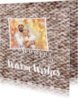 Kerstkaarten - Warm Wishes bruin OT
