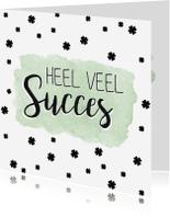 Succes kaarten - Watercolor kaart voor succes