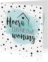 Felicitatiekaarten - Watercolor nieuwe woning