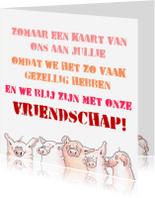 Vriendschap kaarten - We zijn blij met ons
